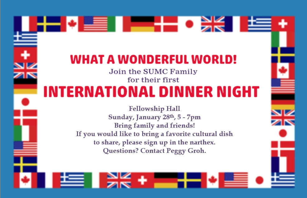 International Dinner Night – January 28
